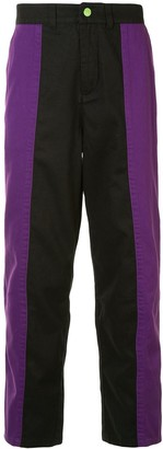 Clot Contrast Color Tapered Trousers