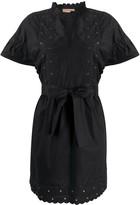 Twin-Set Broderie-Trimmed Poplin Dress