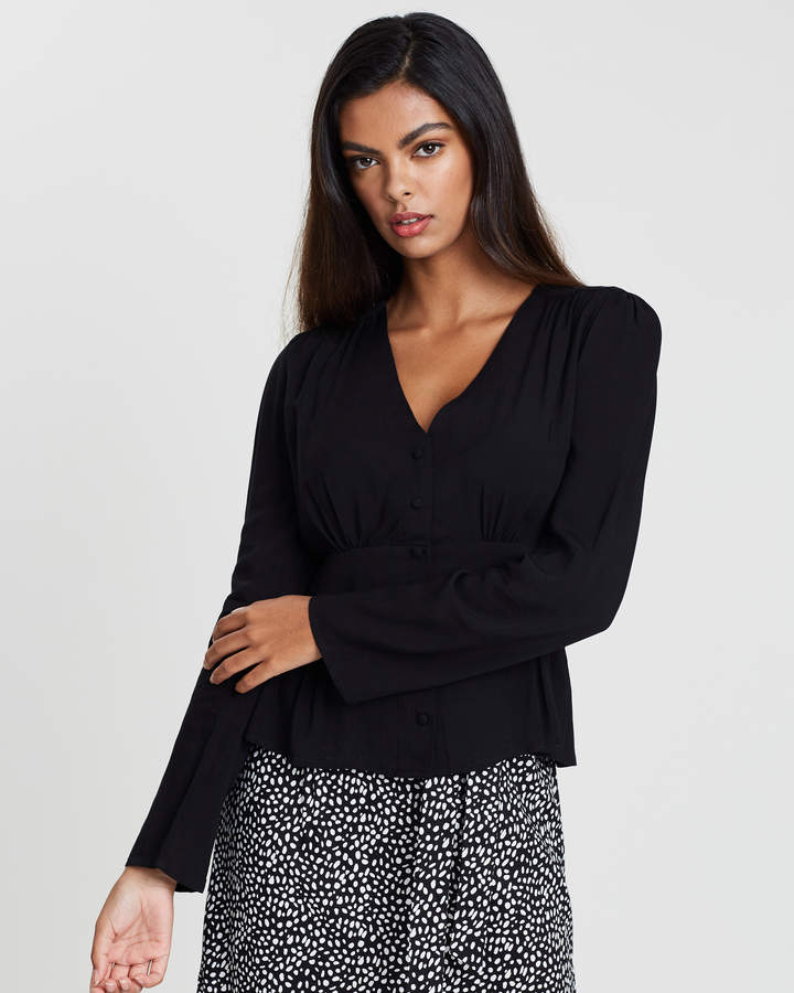 Dorothy Perkins Button Long Sleeve Top