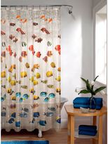 Bed Bath & Beyond Embossed New School Fish PEVA Shower Curtain