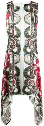 John Richmond sleeveless snake-print dress