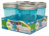 Ball Set of 4 8 Ounce Regular Mouth Jars - Blue