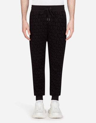Dolce & Gabbana Flocked Print Jogging Pants