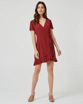 Le Château Wrap-Like Ruffle Dress