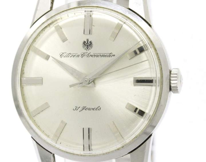 Citizen CR1507051 Stainless Steel Hand-Winding Vintage 37mm Mens Watch