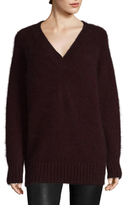 Prada Ribbed V Neck Sweater