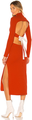 L'Academie The Alana Midi Dress