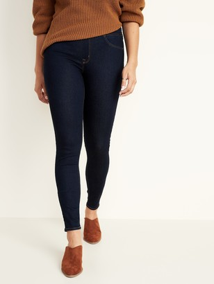 Old Navy Mid-Rise Dark-Wash Rockstar Super Skinny Jeggings for Women