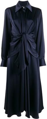 Victoria Beckham tie-waist shirt-style dress