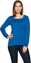 Joan Rivers Classics Collection Joan Rivers Wardrobe Builders Square Neck Sweater