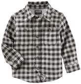 Osh Kosh Boys 4-12 Flannel Plaid Button Down Shirt