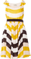 Fendi stripe pleated dress - women - Silk - 38