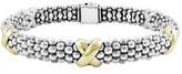Lagos Women's 'X' Two-Tone Rope Bracelet