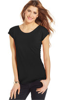 Style&Co. Style & Co. High Scoop-Neck Tee, Only at Macy's