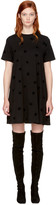 McQ by Alexander McQueen Black Micro Swallow Babydoll T-Shirt Dress
