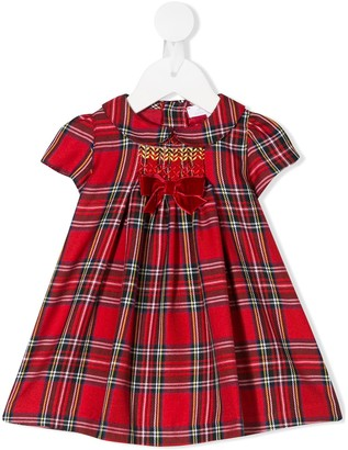 Mariella Ferrari short-sleeved tartan dress