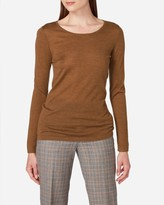 N.Peal Super Fine Long Sleeve Cashmere Top