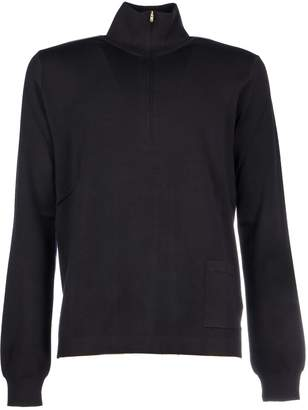 Maison Margiela Knit Turtleneck Zip /maglia Zip Collo Alto