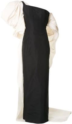 Carolina Herrera Bow-Detail Asymmetric-Sleeve Gown