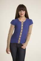 Plenty by Tracy Reese Double Sleeve Cardigan in Blue