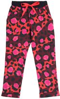 Kenzo Leopard Print Cotton Jogging Pants