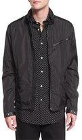 Ralph Lauren Retford Wind-Resistant Jacket W/Stand Collar, Black