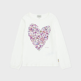 Paul Smith Girls' 2-6 Years Cream Foil-Print Heart 'Mas' Top