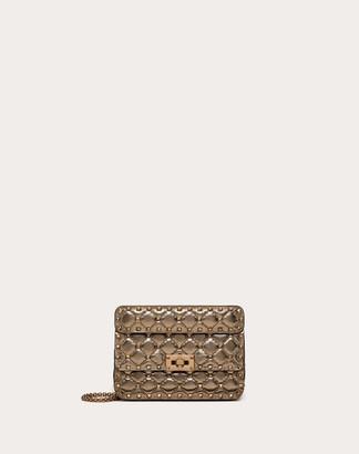Valentino Small Rockstud Spike Metallic Nappa Leather Bag Women Stone Lambskin 100% OneSize