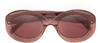 Alaia Dark pink round acetate sunglasses