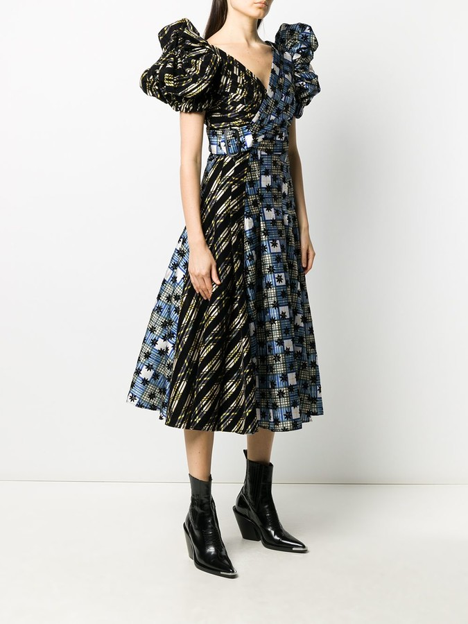 Thumbnail for your product : Chopova Lowena Panelled Puff-Sleeve Dress