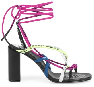 Off-White Shoe Laces Ankle-Strap Sandals