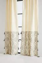 Anthropologie Embroidered Devanne Curtain