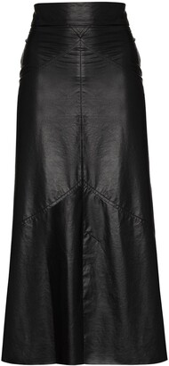 Isabel Marant High-Waist Faux Leather Skirt
