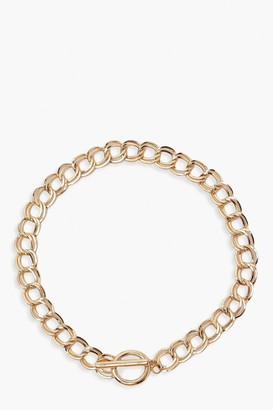 boohoo Chunky Chain T-Bar Clasp Necklace