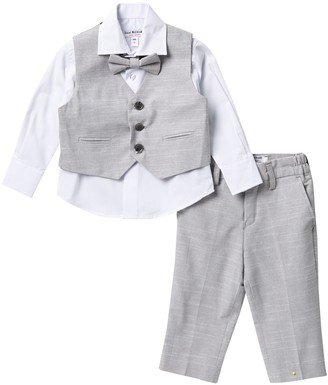Isaac Mizrahi Textured Vest Suit Set - 4-Piece Set (Baby Boys)