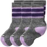 Smartwool Striped Hike Medium Crew 3-Pack (Little Kid/Big Kid)