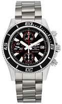 Breitling Men's A1334102/BA81SS Superocean Chronograph II Black Dial Watch
