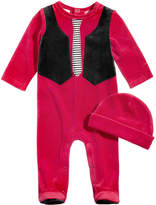 First Impressions 2-Pc. Velour Hat & Vest Footed Coverall Set, Baby Boys, Created for Macy's