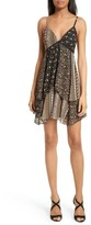 Alice + Olivia Women's Delilah Tiered Print Stretch Silk Dress