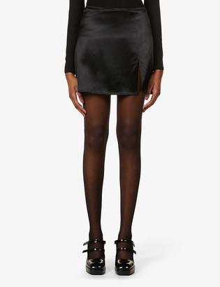 Reformation Robbie high-waist silk mini skirt