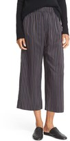 Vince Women's Stripe Slouchy Pull-On Crop Pants