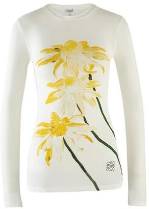 Loewe Daisy printed long sleeve t-shirt