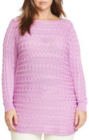 Lauren Ralph Lauren Plus Cable-Knit Cotton Sweater