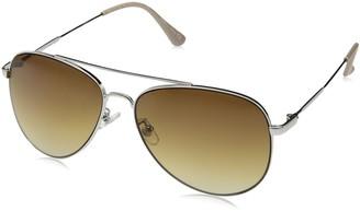 H Halston Womens Women's HH 115 Aviator Fashion Designer UV Protection Sunglasses