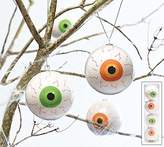 Burton Bloodshot Eye Ball Ornaments 3 inch Orb with Hanging Loop - 4 Green and 4 Orange