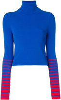 Tommy Hilfiger x Gigi Hadid turtleneck striped sleeve sweater