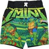 Nickelodeon TNT Ninja Turtles Baby Boys Black Cartoon Character Swimwear Shorts 12M