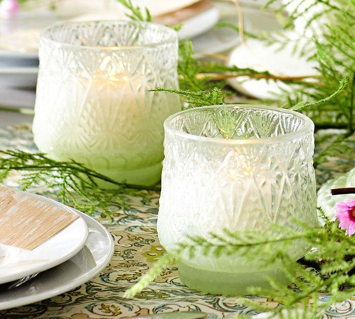 Pottery Barn Milk Glass Votive Cup