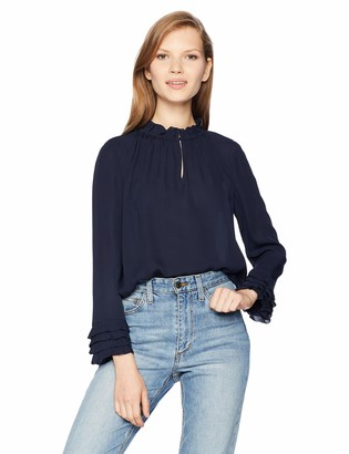 Rebecca Taylor Women's Long Sleeve Ruffle Top
