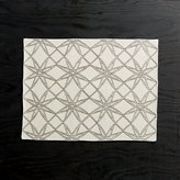 Crate & Barrel Spiro Stars Embroidered Placemat